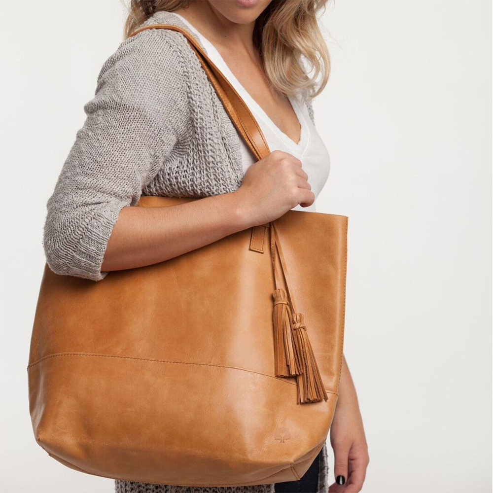 able leather handbag